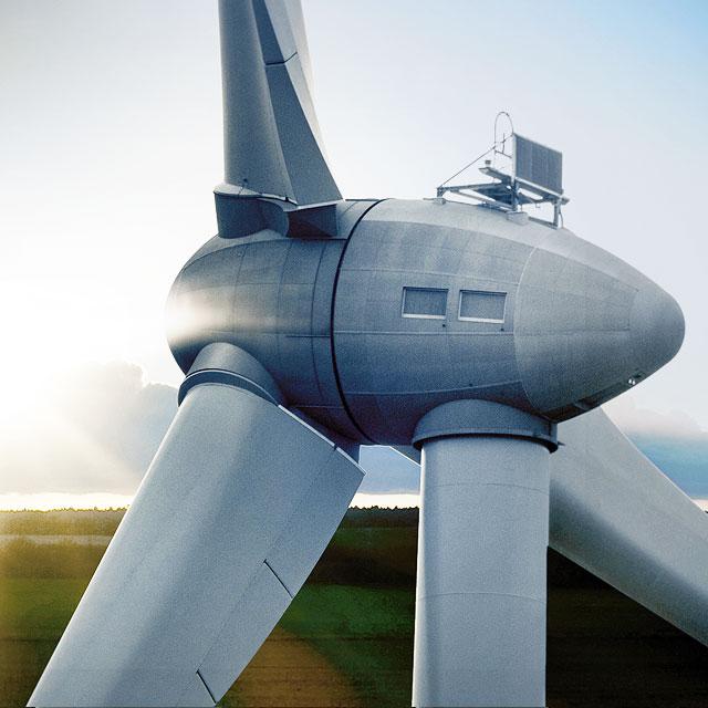 Abbildung eines Windrads für das Geschäftsfeld Energie